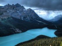 Lago Peyto en Canadá Foto de archivo libre de regalías