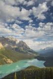 Lago Peyto en el parque nacional de Banff, Canadá Fotografía de archivo libre de regalías