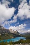 Lago Peyto no parque nacional de Banff, Canadá foto de stock