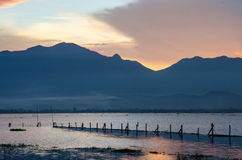 Lago Phayao Foto de Stock Royalty Free