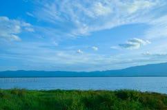 Lago Phayao (Kwan Phayao) Foto de Stock Royalty Free