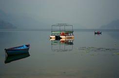 Lago Phewa Immagini Stock Libere da Diritti