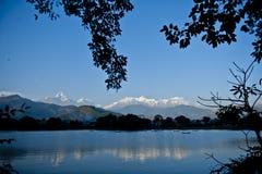Lago Phewa foto de archivo libre de regalías