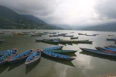 Lago Phewa, Pokhara Nepal Foto de archivo libre de regalías