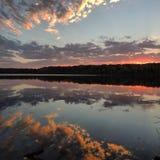 Lago piacevole Immagine Stock