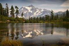 Lago picture, Mt panadero imagen de archivo libre de regalías