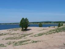 Lago picture in Siberia orientale Fotografia Stock