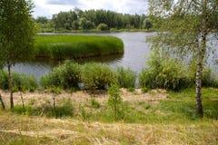 Lago pieno di sole landscape Immagini Stock Libere da Diritti