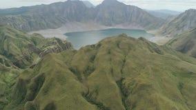 Lago Pinatubo, Filipinas, Luzón crater almacen de video
