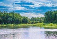 Lago pintado fotografia de stock royalty free