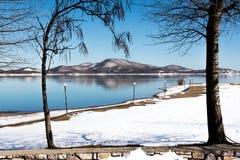 Lago Plastira, Grécia Imagens de Stock
