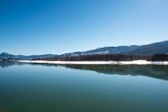 Lago Plastira, Grécia Imagem de Stock Royalty Free