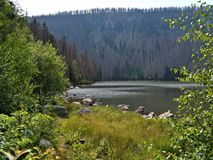 Lago Plesne em Sumava Imagens de Stock