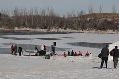 Lago polar e instalação plunge de Nebraska dos Jogos Paralímpicos imagens de stock