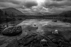 Lago Polygonalnoe en B&W Imagen de archivo libre de regalías