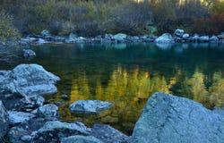 Lago por mañana Fotografía de archivo libre de regalías