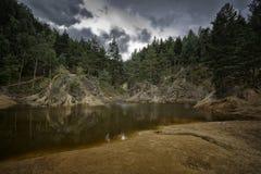 Lago porpora, Polonia Fotografie Stock