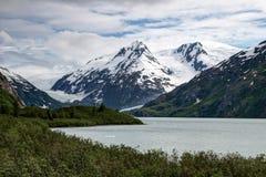Lago Portage, ghiacciai immagine stock libera da diritti