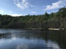 Lago Portage prima del nuoto Immagine Stock