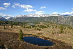Lago pothole in Rocky Mountains Fotografie Stock Libere da Diritti