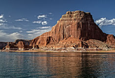 Lago Powell Colorful Cliffs e formazioni rocciose Fotografie Stock Libere da Diritti