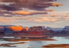 Lago Powell dal punto di Alstrom immagini stock