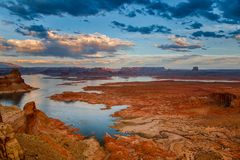 Lago Powell dal punto di Alstrom Fotografie Stock Libere da Diritti