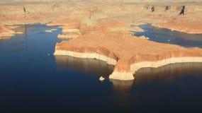 Lago Powell dall'aria Fotografie Stock Libere da Diritti