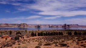 Lago Powell en Arizona fotografía de archivo