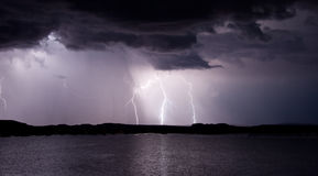 Lago Powell Lightning Storm Foto de Stock Royalty Free
