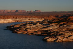 Lago Powell no por do sol Fotografia de Stock Royalty Free