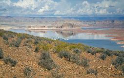 Lago Powell o Arizona Foto de Stock Royalty Free