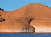 Lago Powell Rock Formation Closeup Foto de archivo libre de regalías