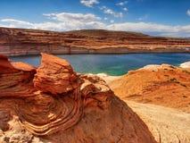 Lago Powell, Utá - Arizona foto de stock
