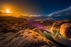 Lago Powell Utah canyon di riflessione Immagini Stock
