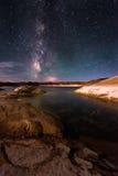 Lago Powell Utah milky Way Immagine Stock Libera da Diritti