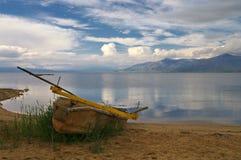 Lago Prespa durante la molla Immagini Stock Libere da Diritti
