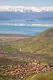 Lago Prespa, Macedonia immagini stock libere da diritti