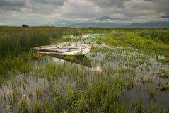 O lago Prespa em Greece Foto de Stock Royalty Free