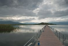 Il lago Prespa in Grecia fotografie stock libere da diritti