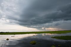 Lago preto Fotografia de Stock