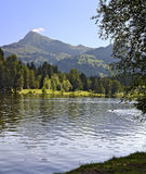 Lago preto e o chifre máximo de Kitzbuehler Imagens de Stock