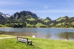 Lago preto em Suíça Imagens de Stock Royalty Free