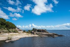 Lago preto no departamento de Rocha de Uruguai Imagem de Stock Royalty Free