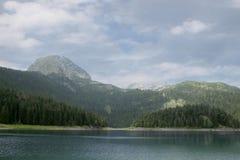 Lago preto Parque nacional Montenegro de Durmitor Imagem de Stock