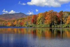 Lago price, Ridge Parkway blu, Nord Carolina Fotografia Stock Libera da Diritti