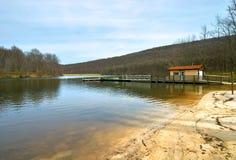 Lago in primavera Fotografie Stock Libere da Diritti