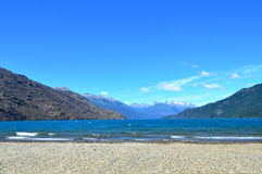 Lago Puelo. Lake and mountains at summer in Lago Puelo, small city in Chubut, Patagonia Argentina Stock Images