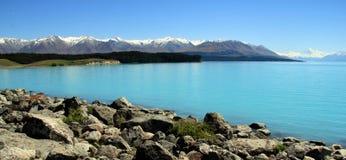 Lago Pukake NZ Foto de Stock Royalty Free