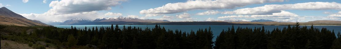 Lago Pukaki Fotografia de Stock
